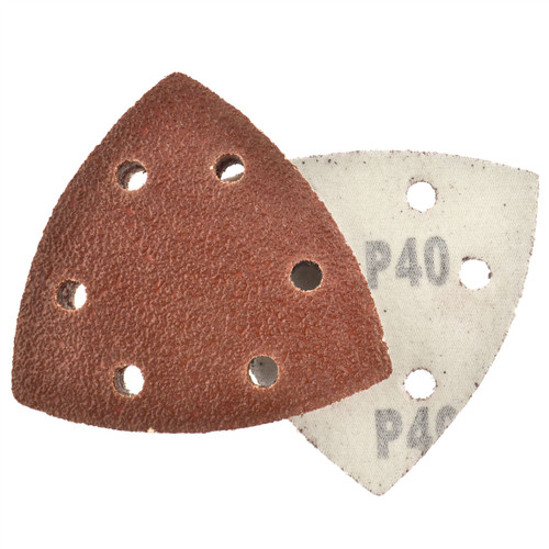 Hook And Loop Sanding Abrasive Discs Pads 90mm Triangular Disc 100 PK 40 Grit