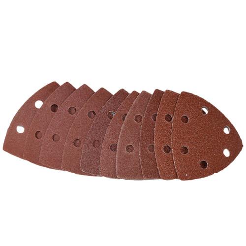 Hook And Loop Sanding Abrasive Discs Pads 90mm Triangular 50pk Mixed Grit