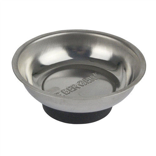 75mm Magnetic Parts Tray Dish Storage Holder Circular Round Stainless Steel 10pk