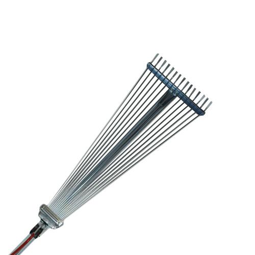 Expanding Lawn Rake Soil Leaves Leaf Raker 15 Teeth 190 - 570mm Span