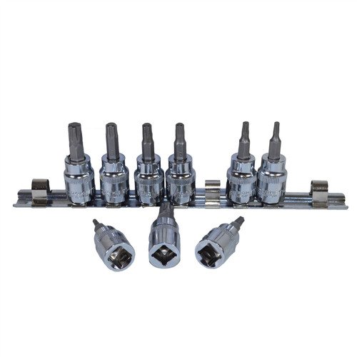 "3/8"" drive Torx / Star Plus Male Sockets TP10 – TP50 9pcs Set By Bergen"