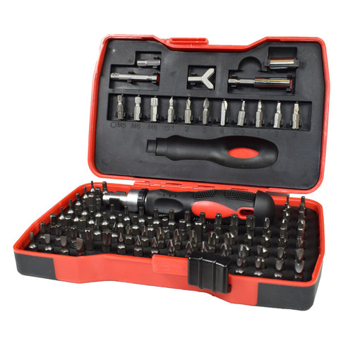 101pc Screwdrivers and Accessory Bit Set With Reversible Ratchet Screwdriver