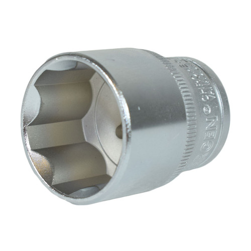 "1/2"" Drive 27mm Metric Super Lock Shallow 6-Sided Single Hex Socket Bergen"