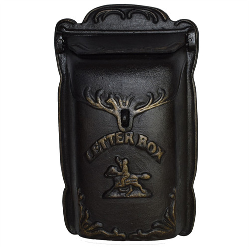 Letter / Post / Mail Box Cast Iron Wall Door Gate Fence Post Garden Home House