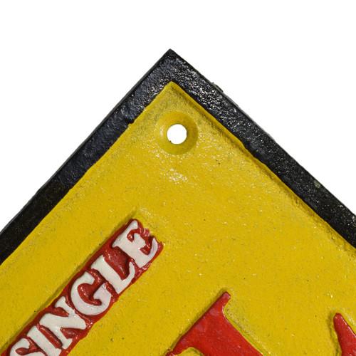 Shell Oil Cast Iron Sign Plaque Door Wall Fence Garage Petrol Workshop Garage