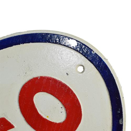 Esso Cast Iron Sign Plaque Door Wall Garage Petrol Oil Workshop Garage Auto