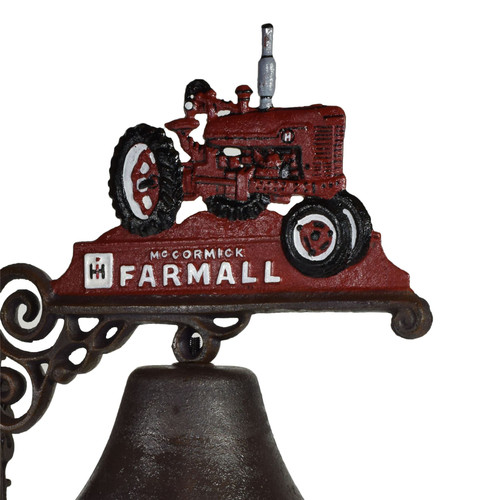 Red Farmall Tractor Farm Bell Cast Iron Sign Plaque Door Wall Gate Post House