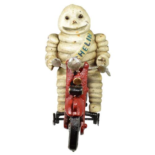Michelin Man Motorcycle Motorbike Bike Mascot Figure Statue Bibendum Cast Iron