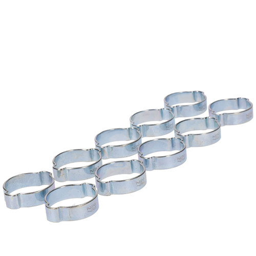 Double Ear Pipe Tube Clips Clamps Hose Fuel Clamp Hydraulic 23mm – 27mm 10pc
