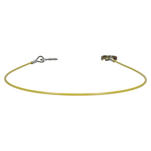 1 Metre Ring Hook Trailer Caravan High Vis Brake Away Breakaway Safety Cable