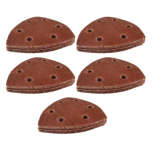 Hook/Loop Sanding Abrasive Discs Pads 90mm Sanding Triangle 50 PK Mixed Grit