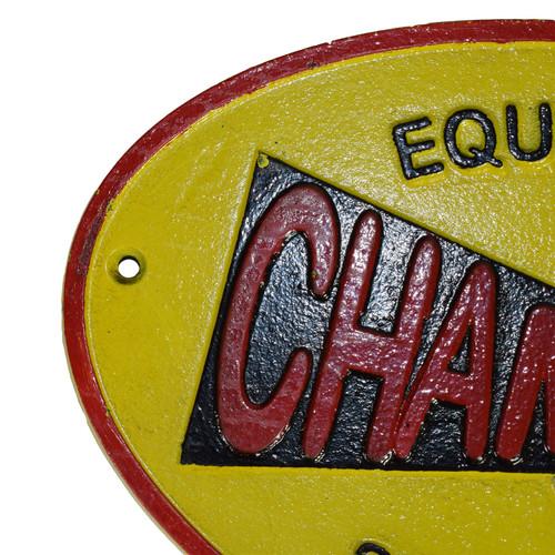 Champion Spark Plug Cast Iron Sign Plaque Wall Garage Petrol Workshop Shop