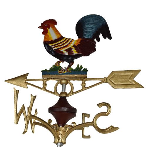 Cockerel Chicken Hen Weather Vane Vain Ridge Mount Gold House Roof CastIron