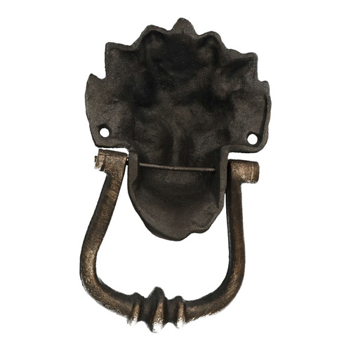 10 Downing St. Lion Head Door Knocker Bell Ringer Striker Cast Iron GB London