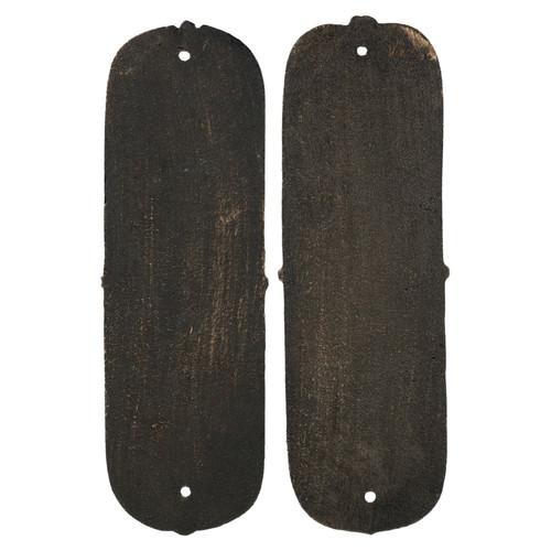 Finger Push Plate Sun Door Wall Post Cast Iron Sign Plaque Decorative Pull Plates