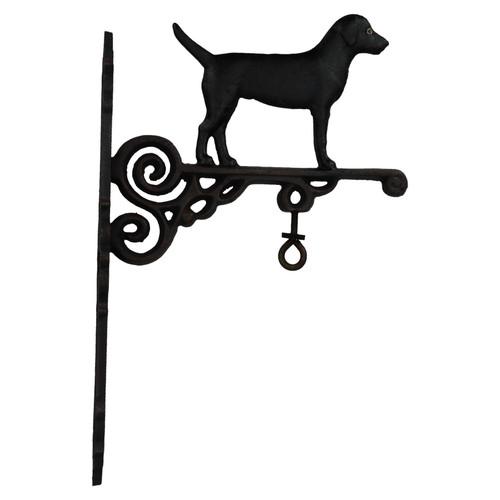 Black Labrador Retriever Dog Bell Farm Cast Iron Sign Plaque Door Wall House