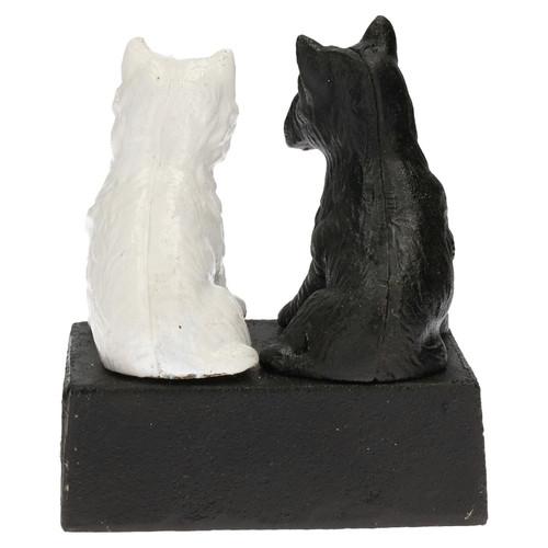 Black & White Buchanan's Scotch Whisky Whiskey Scottie Dog Figurine Statue
