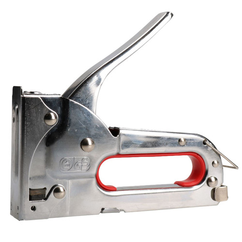 Chrome Staple Gun Hand Operated 4-8mm Staples Arrow JT21 Stapler Craft Hobby