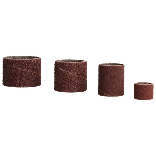"20pc Drum Sanding Grinding Tools 4 Drums 0.5"" – 1.25"" And 16 Belts 80 / 120 Grit"