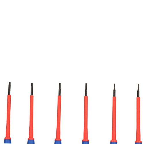 Electricians VDE Precision Tamper Torx Star Screwdriver Set T5 – T10 6pc Kit