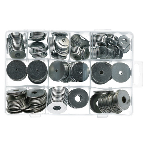 240pc Large Penny Repair Washers Circle Round Carbon Steel Nuts Screws Bolts