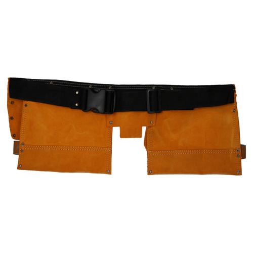 Double Leather Tool Pouch 11 Pocket Split Suede Leather Handyman Belt