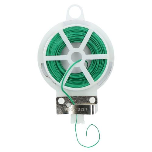 50 Metres Twist Garden Plant Wire Hanger and Cutter Tie Line Dispenser Bushes