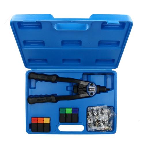 Hand Nut Riveter Riveting Kit Tool Nut Sert Tool Fastener M3 - M10 & 60 Rivets