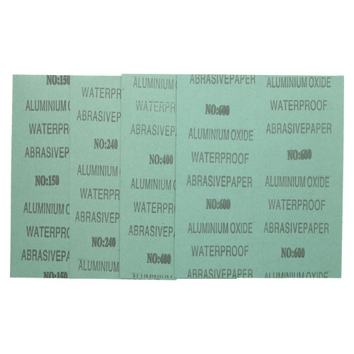 20pc Assorted Wet And Dry Sandpaper Sheets For Metal Plastic Wood Mixed Grit