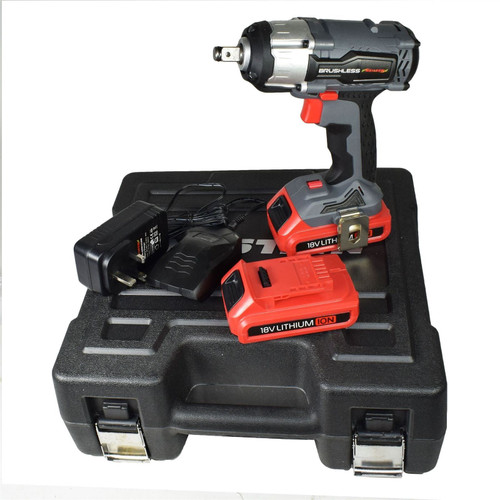 "18v 1/2"" Drive Li-on Cordless Battery Impact Gun & 10 Shallow Impact Sockets"