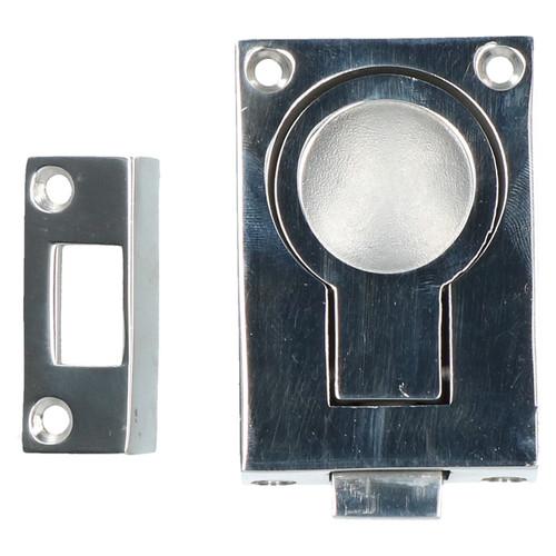Door Lock Locker Catch Flush Lifting Ring Handle Marine Stainless Steel 2 PACK