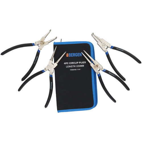 "6"" And 9"" Circlip Plier Pliers Sets Internal and External / Bent and Straight"