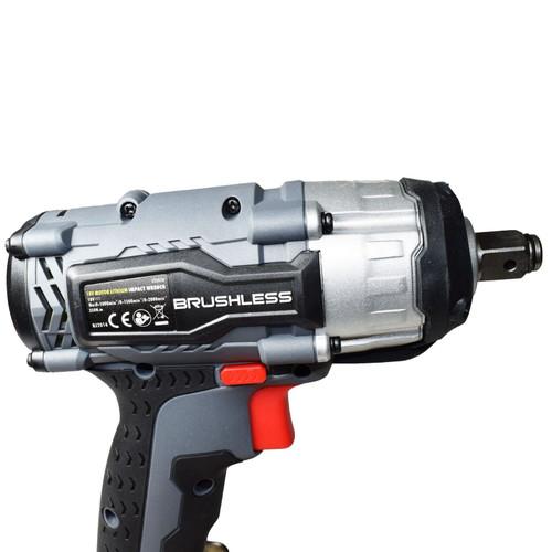 "18v 1/2"" Drive Li-on Cordless Battery Impact Gun & 10 Deep MM Impact Sockets"