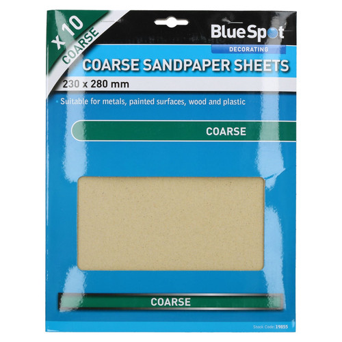 20pc Assorted Sandpaper Sanding Sheets For Metal Wood Plastic Coarse 60 Grit