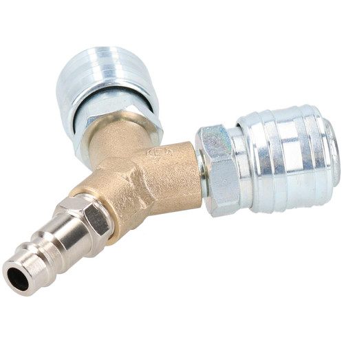 Airline Y Piece 3 Way EURO Quick Release Fittings for Compressor Air Hose