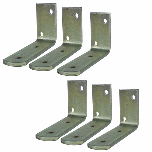 """Pair 10"""" Twin Wheel Tandem Mudguards 48"""" x 7"""" And Fender Wing (SMALL) Brackets 6pc"""