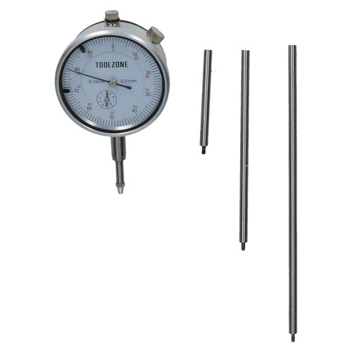 Extra Long Dial Test Indicator DTI Clock Guage Measuring Precision Plunge Probe
