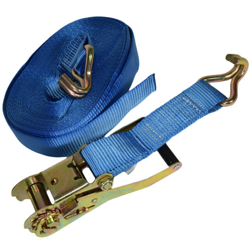 2 Trailer Car Recovery Ratchet Lashing Tie Down Strap 2.5 Ton 15 Metres / 50 Ft