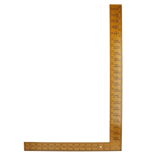 "24"" x 16"" Steel Set Speed Square Rafter Rule Ruler Metric Imperial Markings"