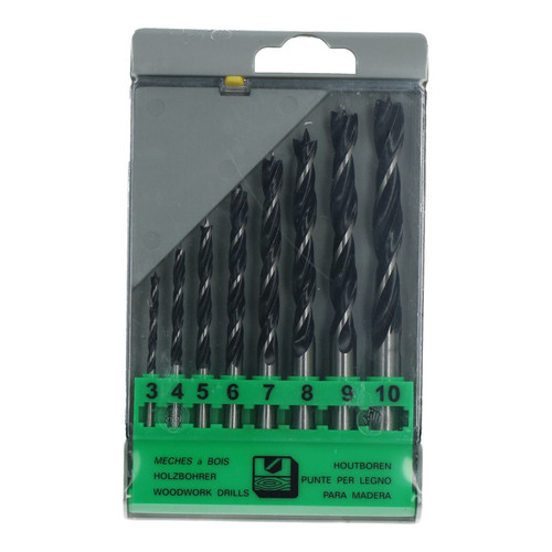 8pc Quality Lip Spur Wood Drill Bits Carpentry Woodwork Precision Centre Point