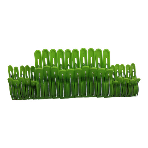 20pc Assorted Plant Clips Flower Plastic Sprung Clip Ties Holder 30mm & 45mm