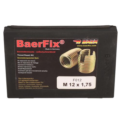 Baerfix M12 x 1.75mm Metric Self Tapping Damaged Thread Repair Cutter Inserts