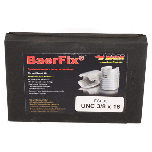 BaerFix Imperial UNC 3/8 x 16 Self Tapping Damaged Thread Repair Kit Inserts