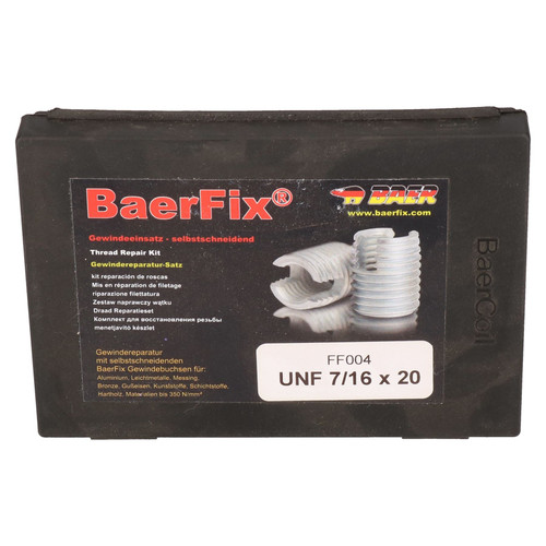 BaerFix Imperial UNF 7/16 x 20 Self Tapping Damaged Thread Repair Kit Inserts