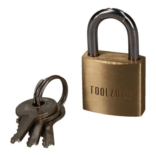 20mm Heavy Duty Brass Padlock Security Lock Suitcase Rucksack with 3 Keys