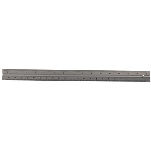 "12"" Triangular Scale Ruler Aluminium Scale Engineer Architect Technical Drawing"