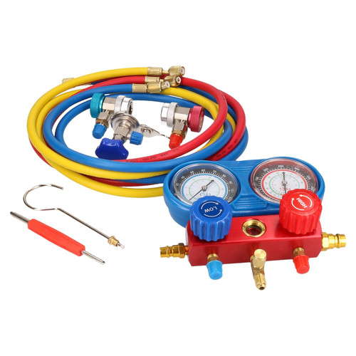 AC Manifold Gauge Set Air Conditioning Diagnostic Refrigeration Set Kit Pump