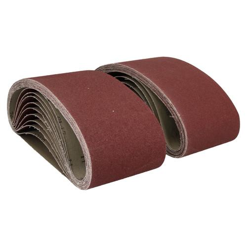 610mm x 100mm Mixed Grit Abrasive Sanding Belts Power File Sander Belt 80 Pack