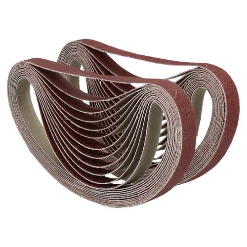 457mm x 13mm Mixed Grit Abrasive Sanding Belts Power File Sander Belt 50 Pack