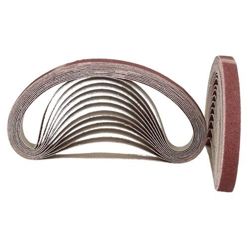 457mm x 13mm Mixed Grit Abrasive Sanding Belts Power File Sander Belt 25 Pack